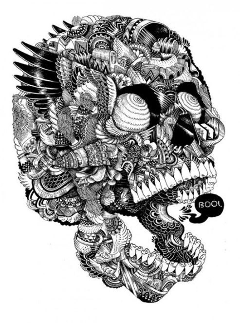 Kain Macarthur - #illustration #skull