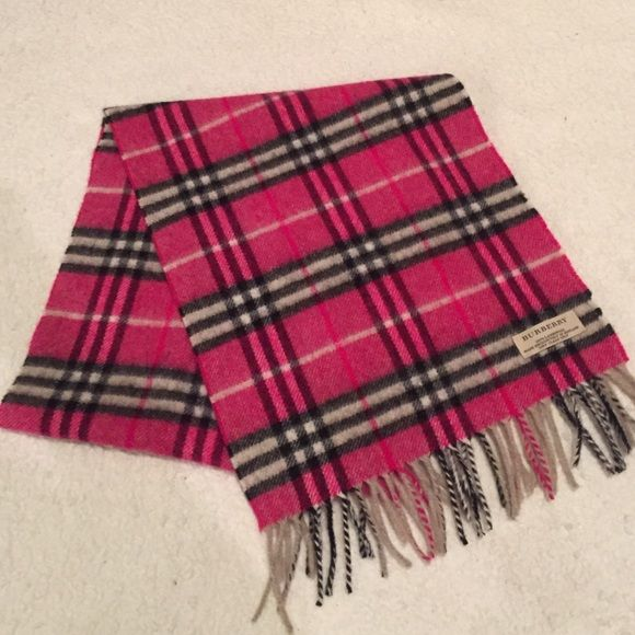 black and white burberry scarf