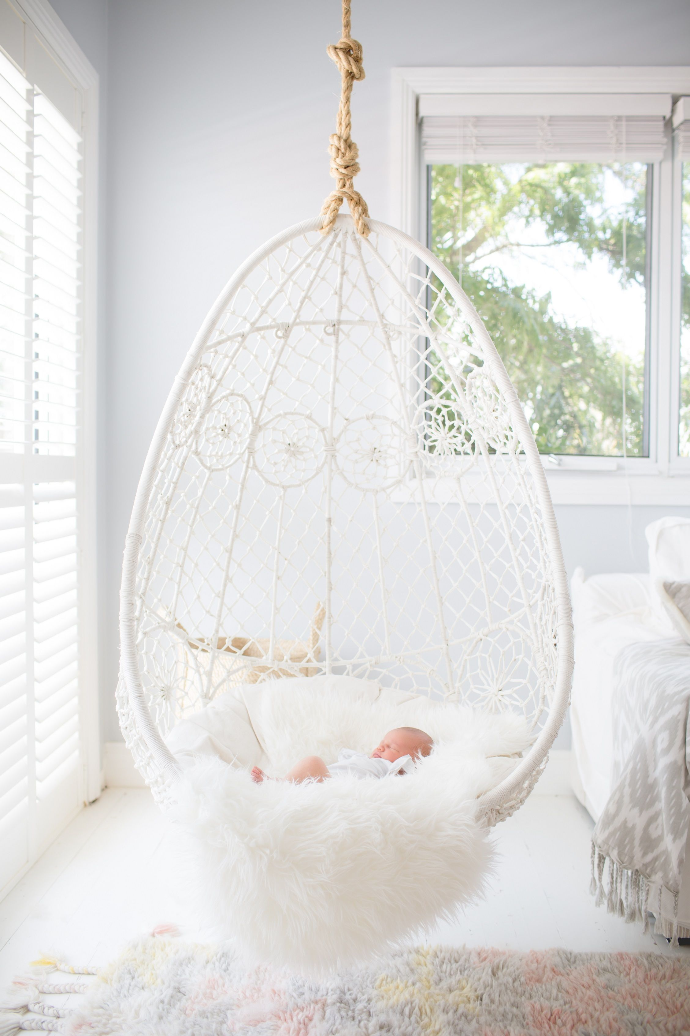 Macrame swing chair best of bedroom cool hanging swing - Indoor hanging egg chair for bedroom ...