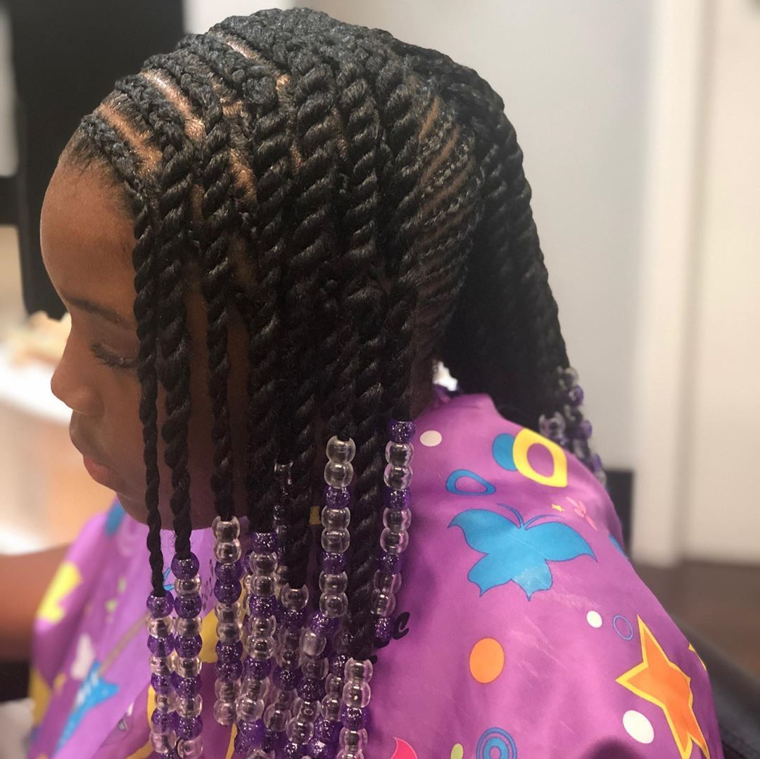 Kids braids no hair added w/ beads|  Appointment available! Text to book your next appointment! MUST BE DEPOSIT READY!#looksbylessa Wash & blow dry INCLUDED all styles Hair INCLUDED selected styles Purchase high quality hair extensions @theglambarhaircompany  #dmvbraider #dmvhairstylist #laceclosuresewin #protectivestyle #mdbraider #mdhairstylist #explorepage #boxbraids #goddessbraids #crotchetbraids #individualcrotchetbraids #knotlessbraidsdmv #lemonadebraids #kidsbraids #swipe #passiontwist #f #crotchetbraids