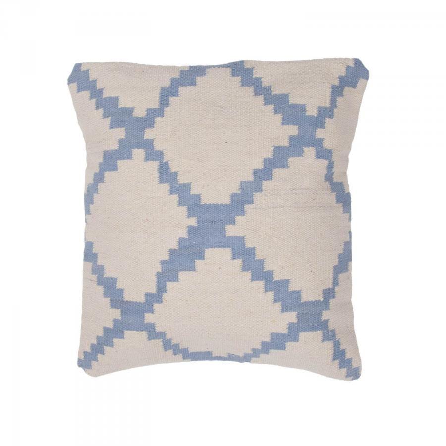 Teluca pillow pale blue on white set of lulu and georgia