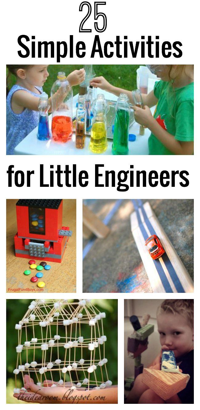 25 Simple Activities for Little Engineers