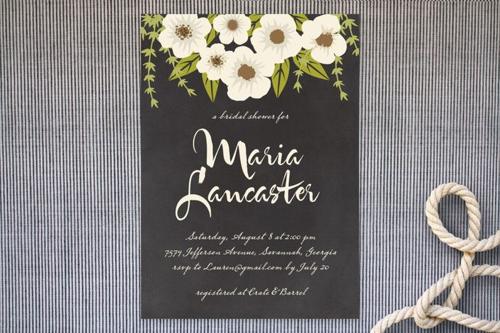 Plentiful Blossoms Bridal Shower Invitations by Faiths Designs at minted.com