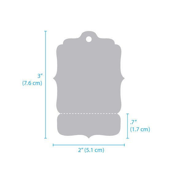 500 Hang Tags Medium 2 X 3 Perforated Blank Price Tags Bracket
