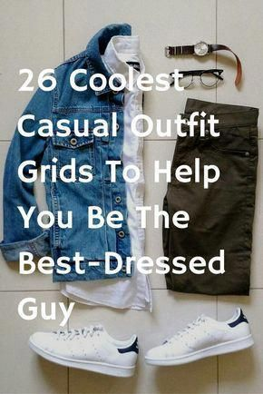Casual outfit grids for men #mens #fashion #style #MensFashionSmart #outfitgrid