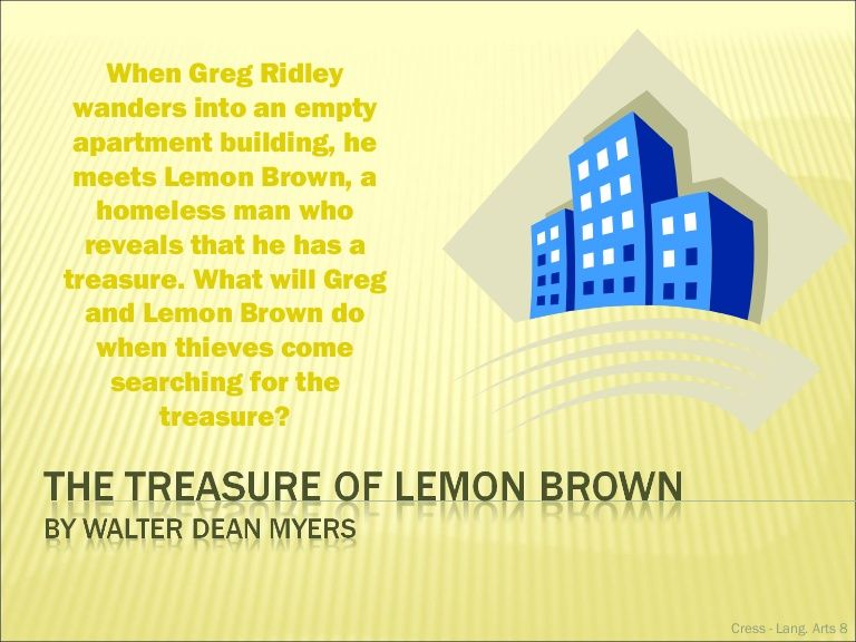 The Treasure Of Lemon Brown And Elements Of A Short Story By