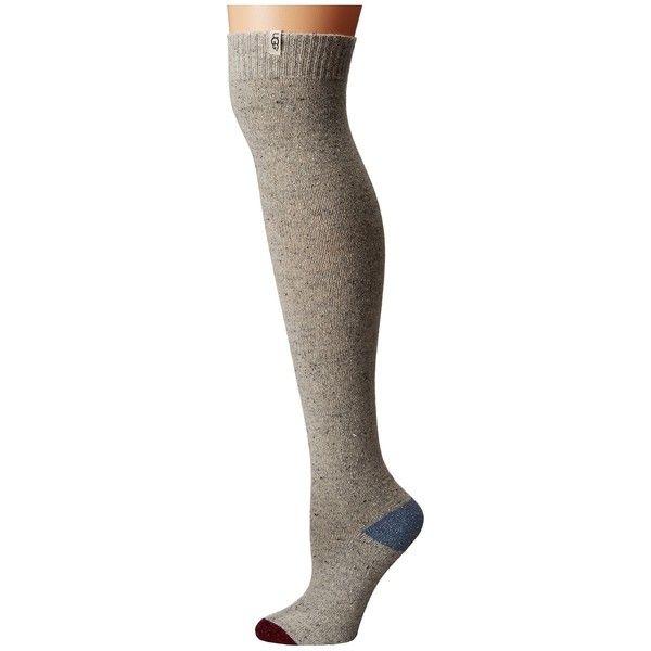 066b33da2 UGG Color Block Rib Over the Knee Socks (Light Seal) Women s Knee High.
