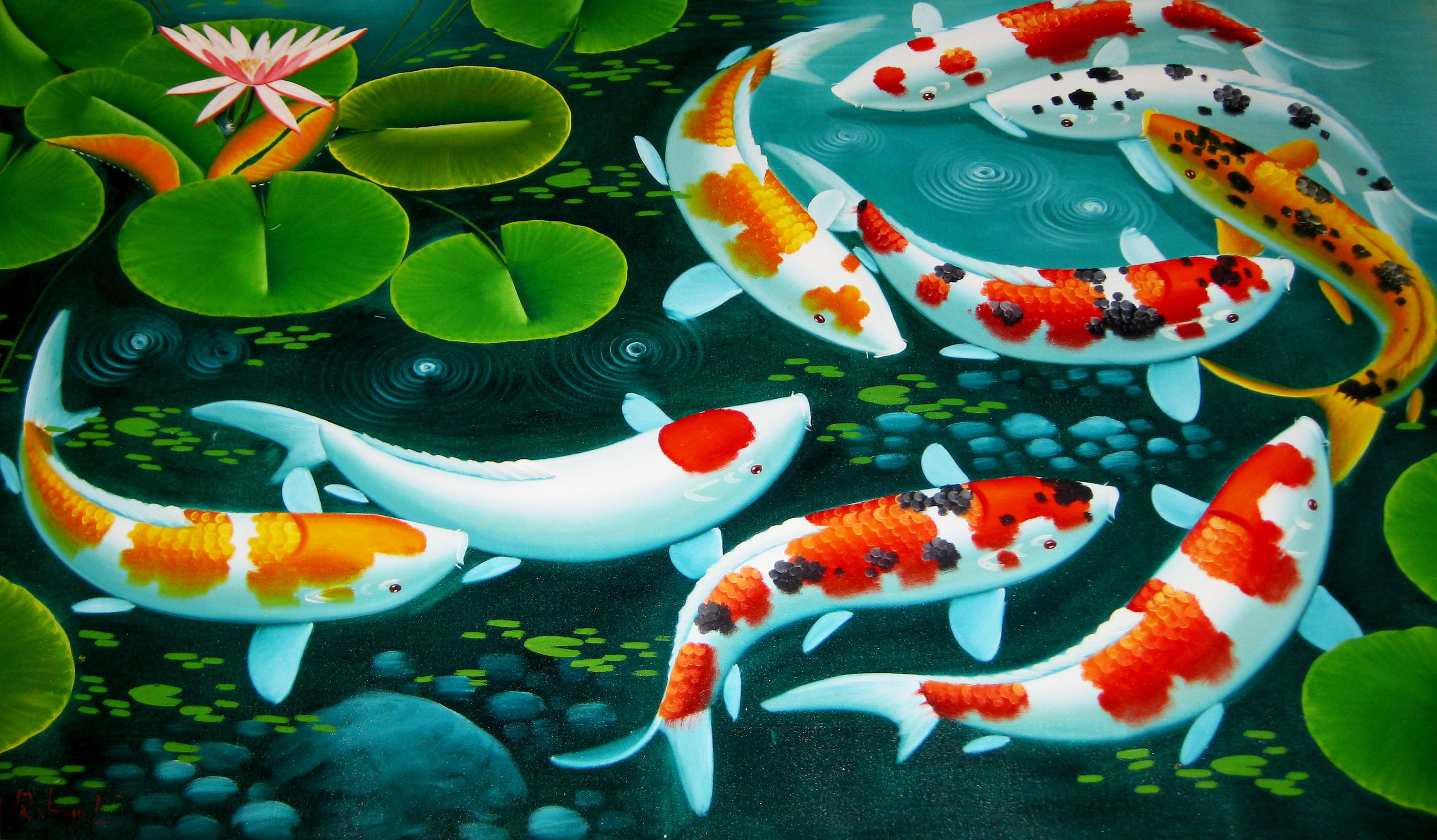 Pin Oleh Ari Di Art Ikan Gambar Lukisan