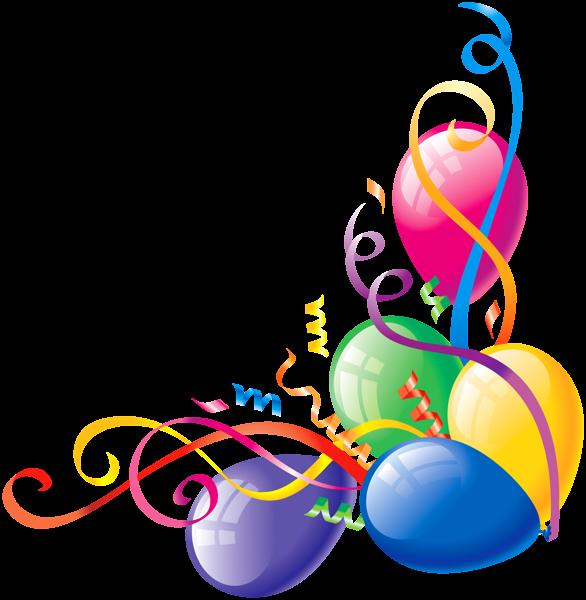 Balloon Corner Border Vozdushnye Shary S Dnem Rozhdeniya Den Rozhdeniya