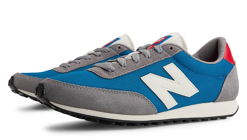 newest 25842 7506c New Balance 410, Grey with Blue