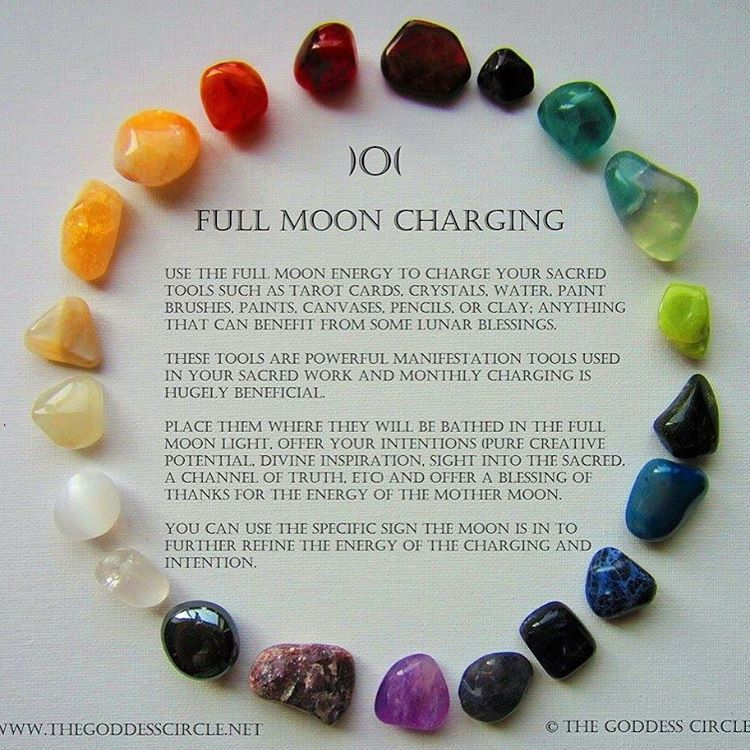 how to recharge crystals under full moon