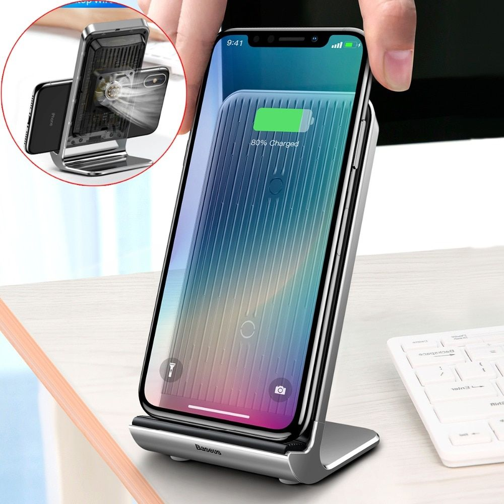 baseus intelligent cooling wireless charger for iphone xs max xr xs rh pinterest com