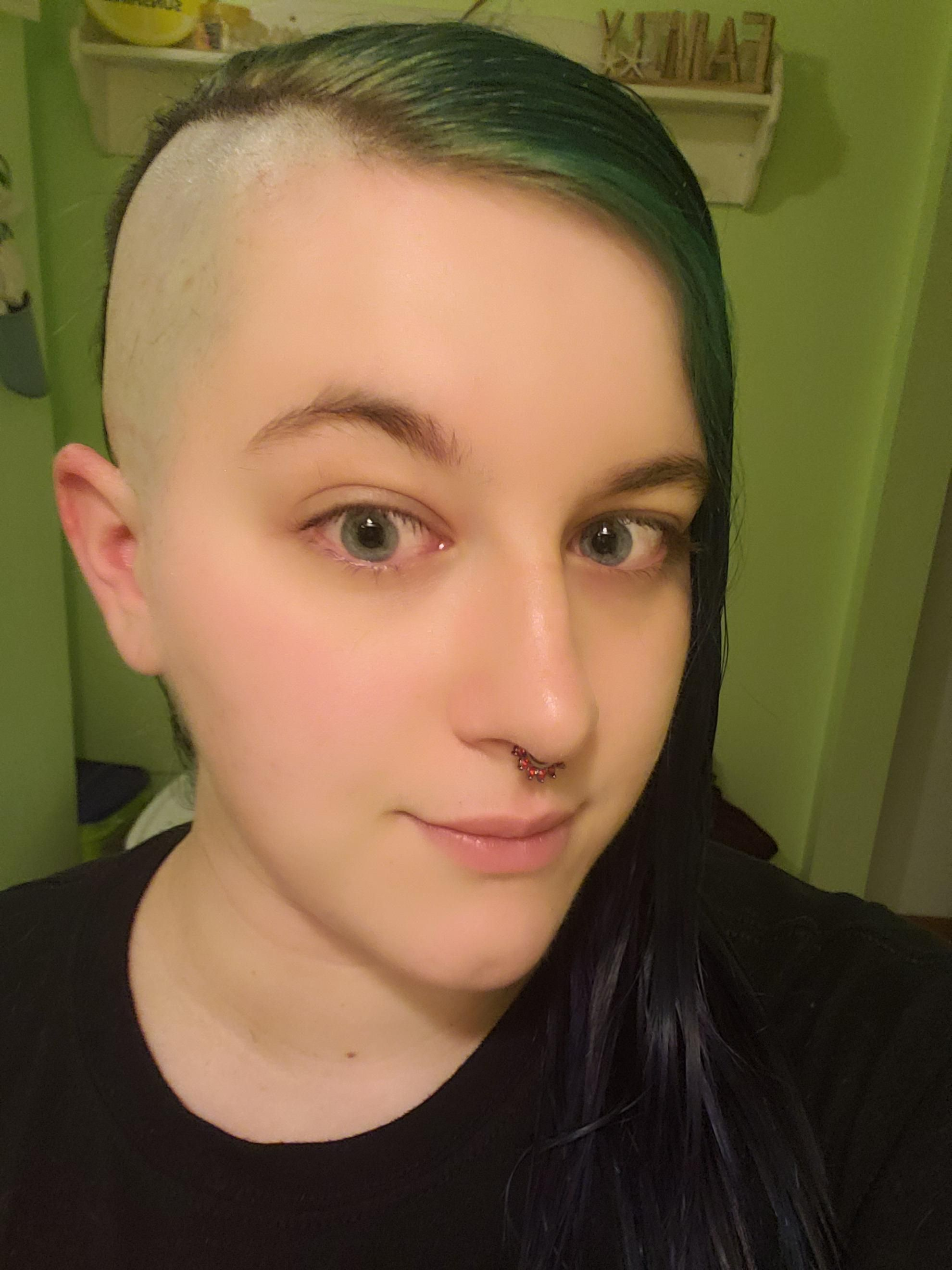 Im half bald half mermaid! hair beauty Skin Deals me