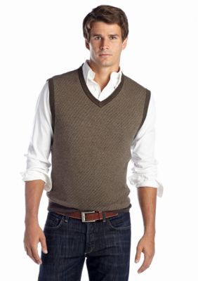 Saddlebred Mini Herringbone Sweater Vest | Products