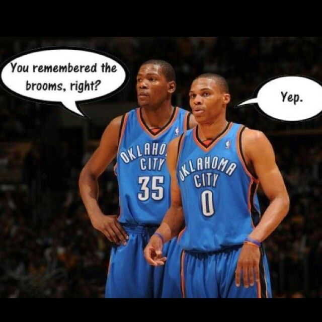 1263e8cdd4f Kevin Durant  35  KD   Russell Westbrook  0 OKC Thunder  Thunderup ...