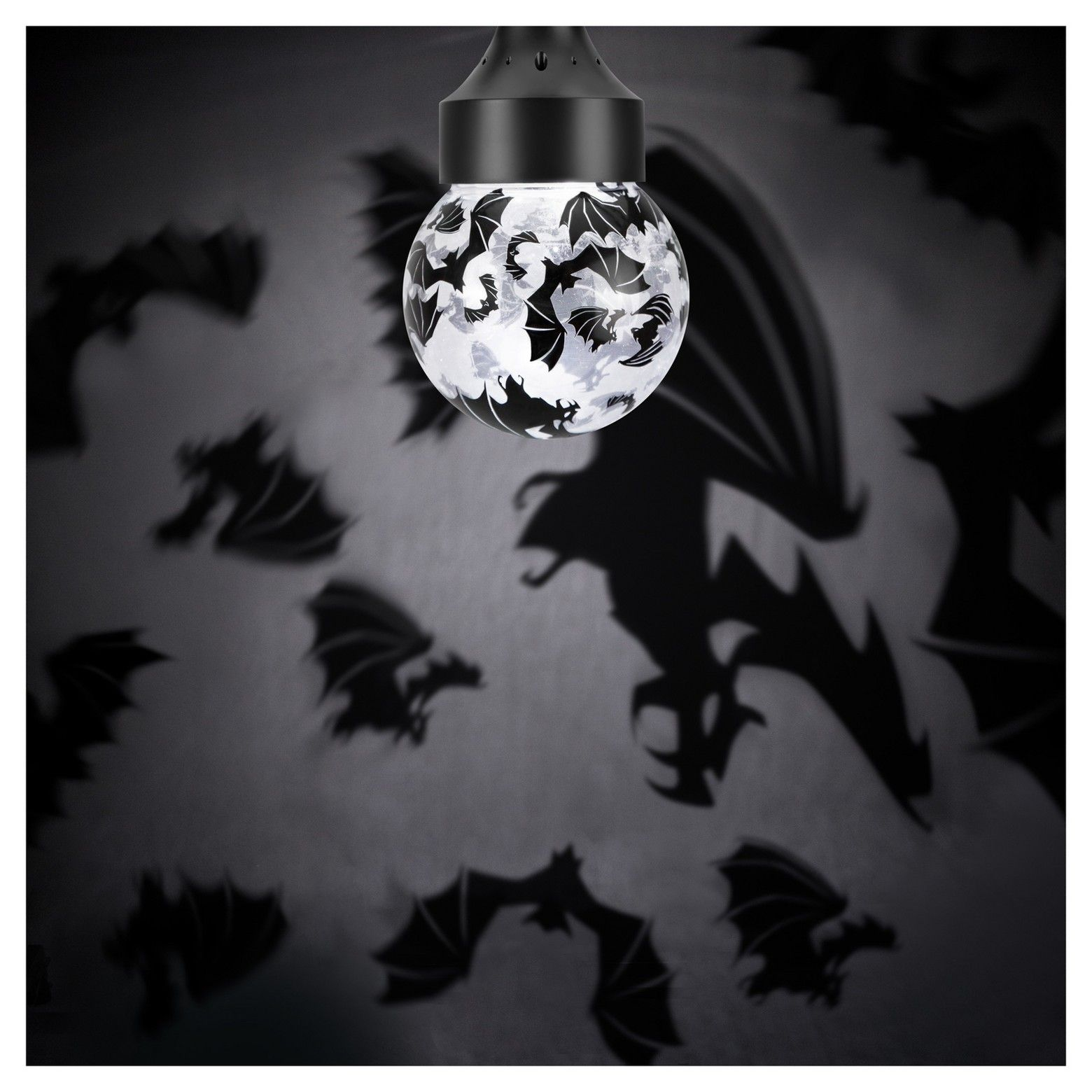 Take Cover When The Creepy Bats From This Rotating Shadow Lights Lightbulb Hyde And Eek Boutique Swarm Across Your Walls