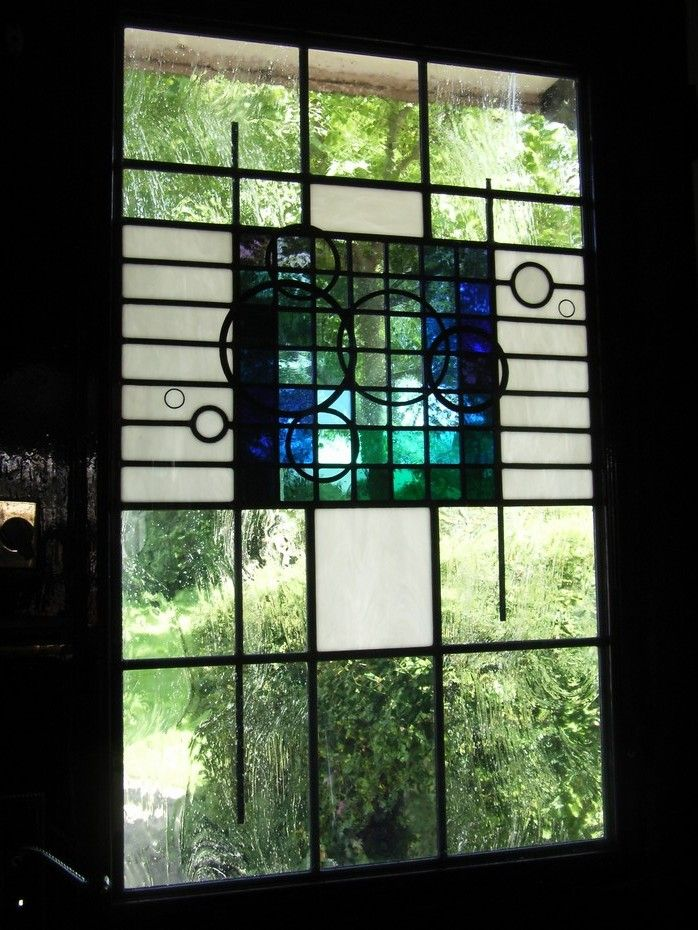 Contemporary Stained Glass Door Panel   Stained Glass Artists  Designers  Producers  Clitheroe Lancashire