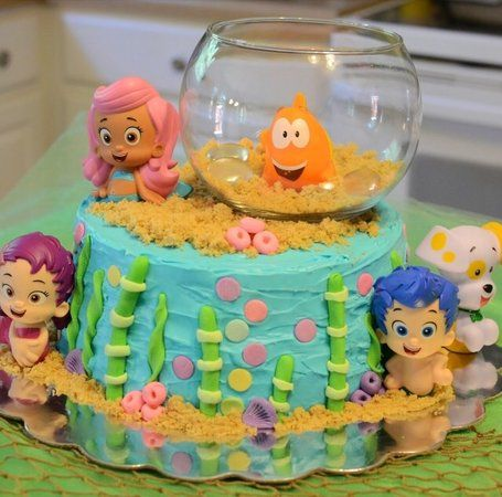 Anyone Do The Walmart Bubble Guppies Cake For 1st Bday Or Another Childs From Their Bakery Book If So Please Post A Pic