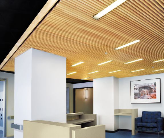 Armstrong Woodworks Ceilings Can Feature A Variety Of
