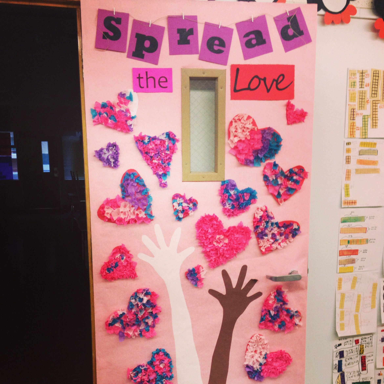 Valentine's Day door decoration! Has a little Black ...