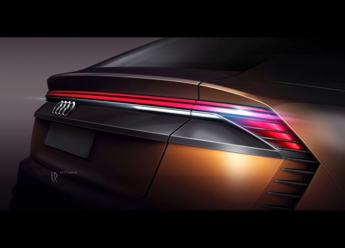 2017 Audi Q8 Sport Concept Rear Combi Lamp