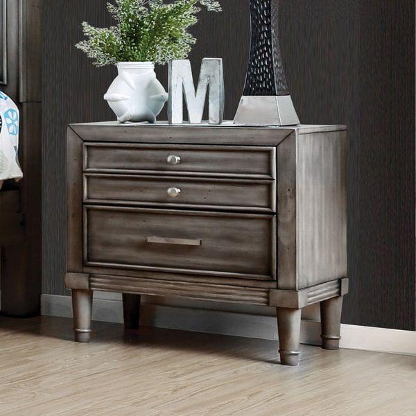 Furniture Of America Kerilan Transitional 3-drawer Grey