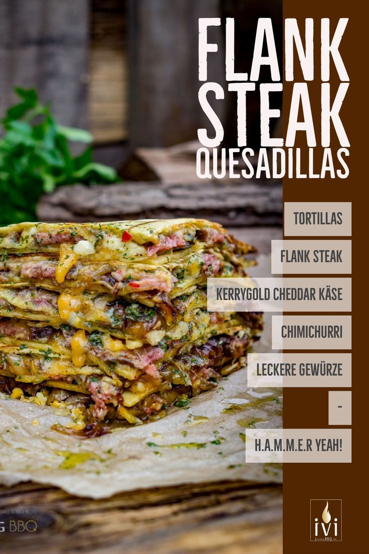 Quesadillas mit Flank Steak und Cheddar Käse | LivingBBQ.de