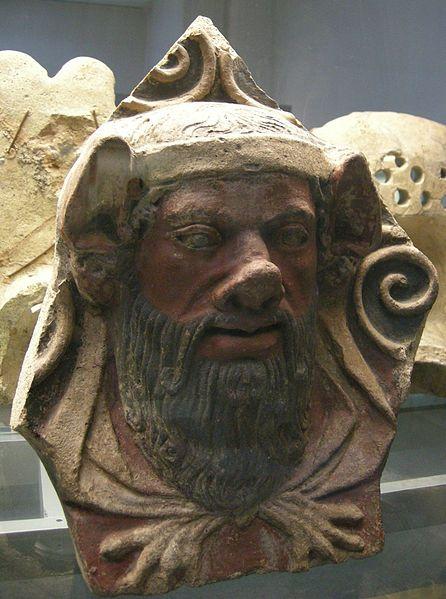 Etruscan Terracotta Head Of Pederast Dorian God Zeus