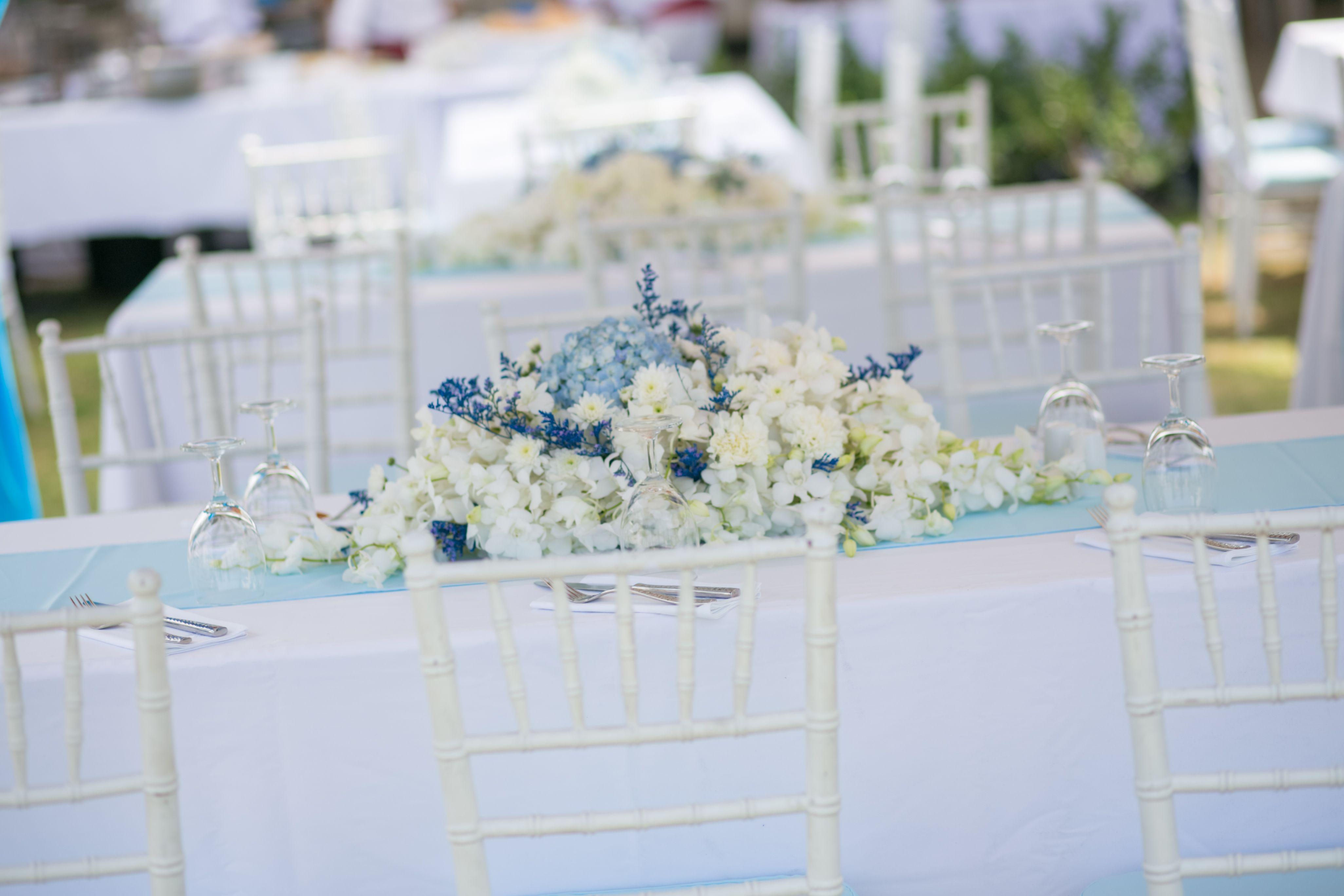 welcomelunch#bluewhite#tiffanyblue#flowerdecorblue#blueandwhitedecorwedding#wizkimweddingphuket