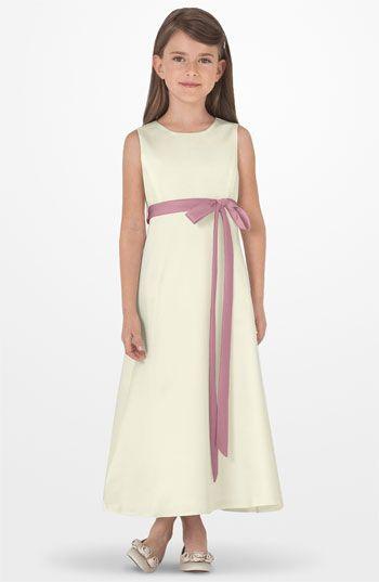 Sleeveless Satin Dress Satén, Vestidos de niña pequeña y Malvada