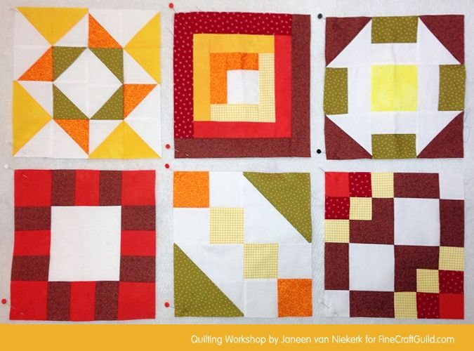 Free Domino Quilt Block Pattern + Workshop (#24) | Sampler quilts : quilting lessons online - Adamdwight.com