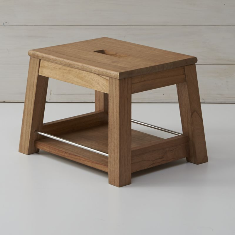 wooden step stool bathroom luke herman - Step Stool