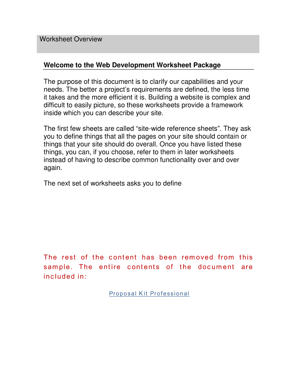 How To Write Your Own Web Development Worksheet Overview