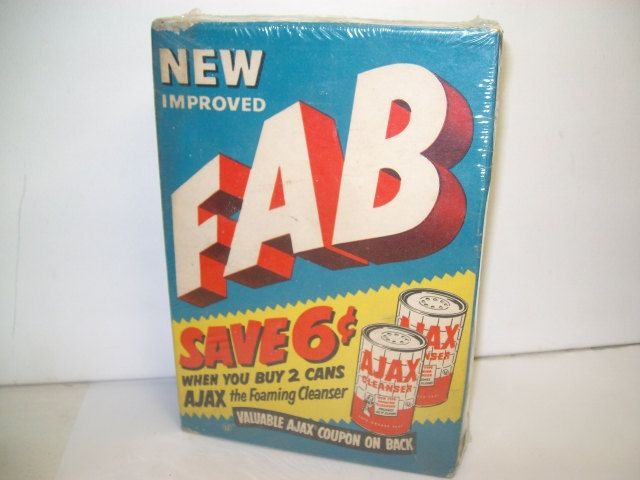 1950 S Unopened Fab Laundry Detergent Box Vintage Fab Laundry