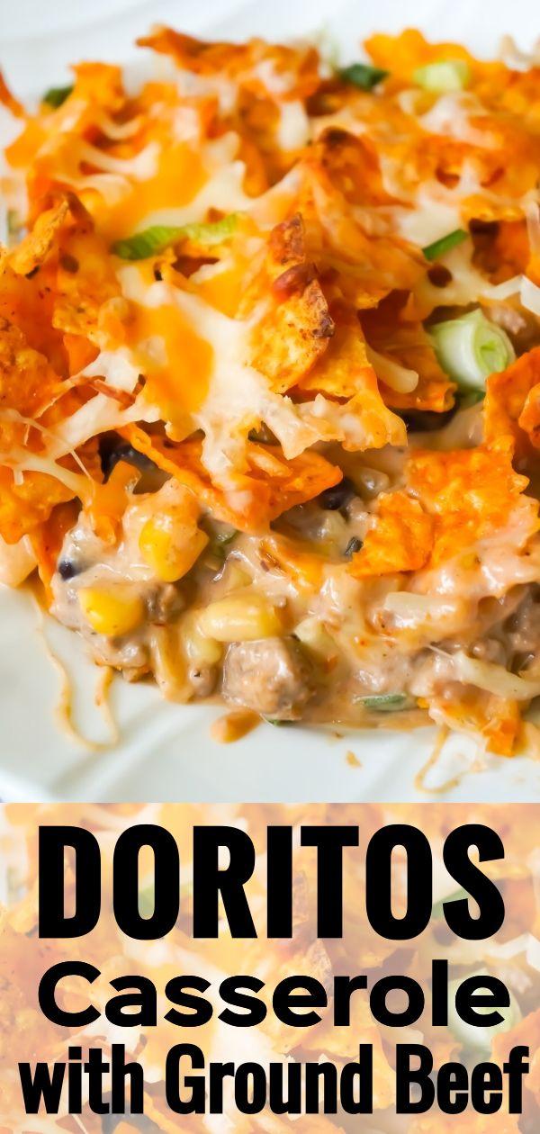 Doritos Casserole With Ground Beef Dorito Casserole Ground Beef Casserole Hearty Dish