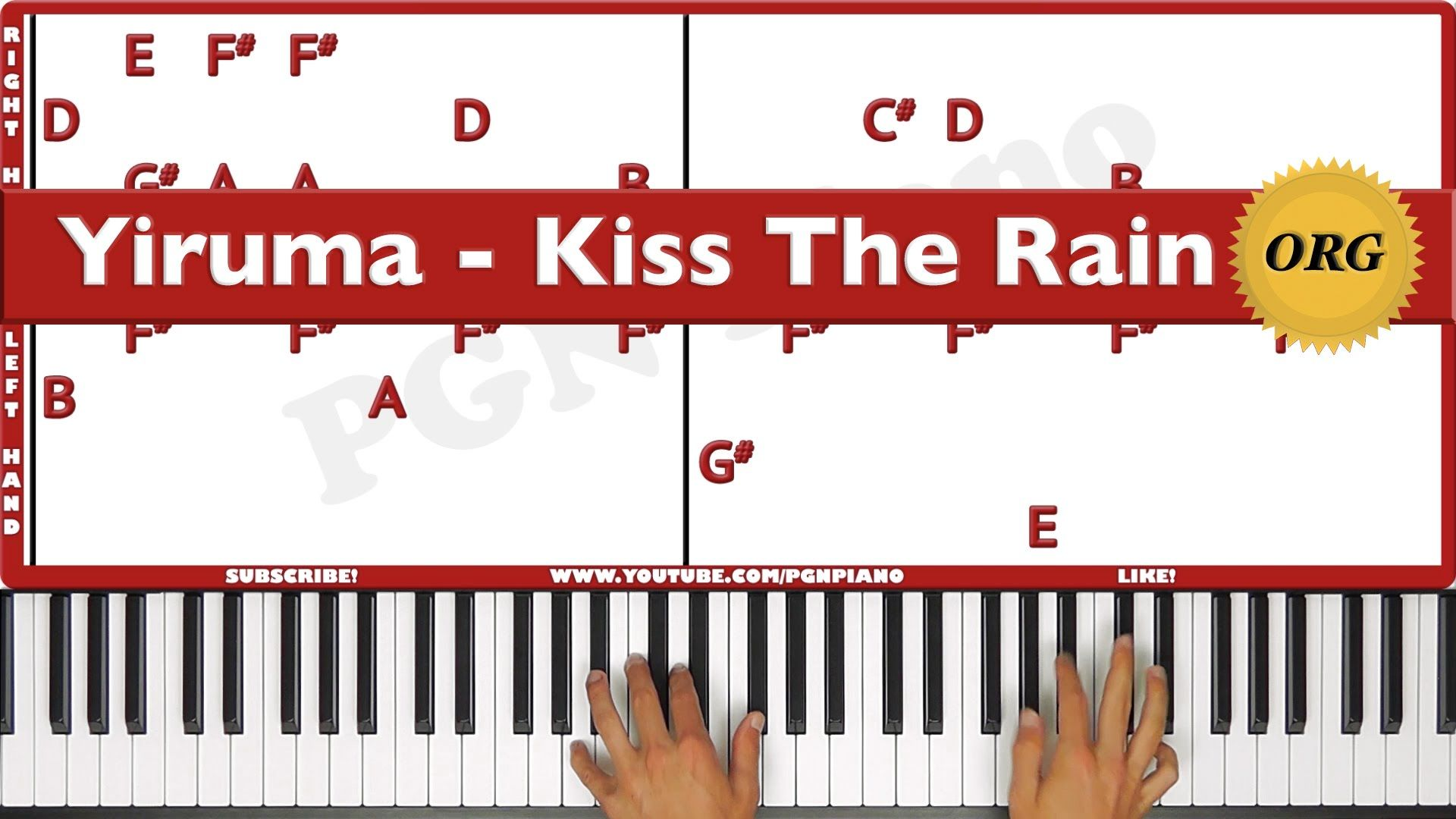 Original How To Play Kiss The Rain Yiruma Piano Tutorial