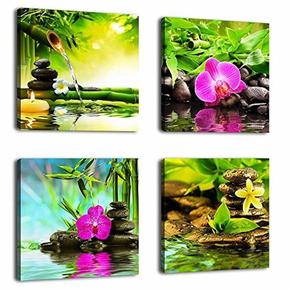 Canvas Painting Wall Art picture Decor SPA Stone 3 Panels Modern Zen Giclee Art