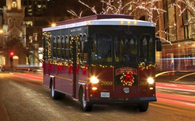 Operating daily through January 1st, M&V Limousines Ltd.'s Christmas Express Trolley Ride is a ...