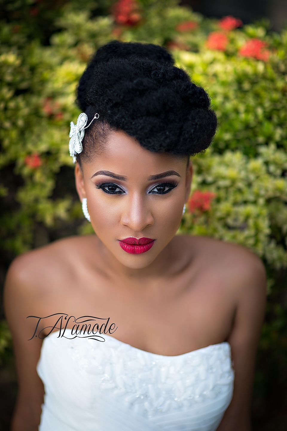 nigerian bridal natural hair and makeup shoot - black bride