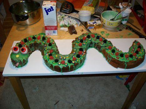 Schlangenkuchen Kindergeburtstag Cake Cupcake Birthday Cake Und