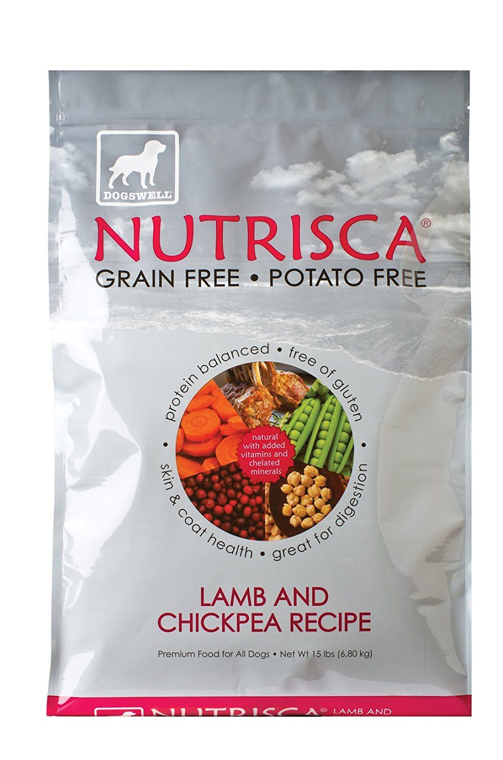Dogswell Nutrisca Dog Food Lamb And Chickpea 15 Pound Package