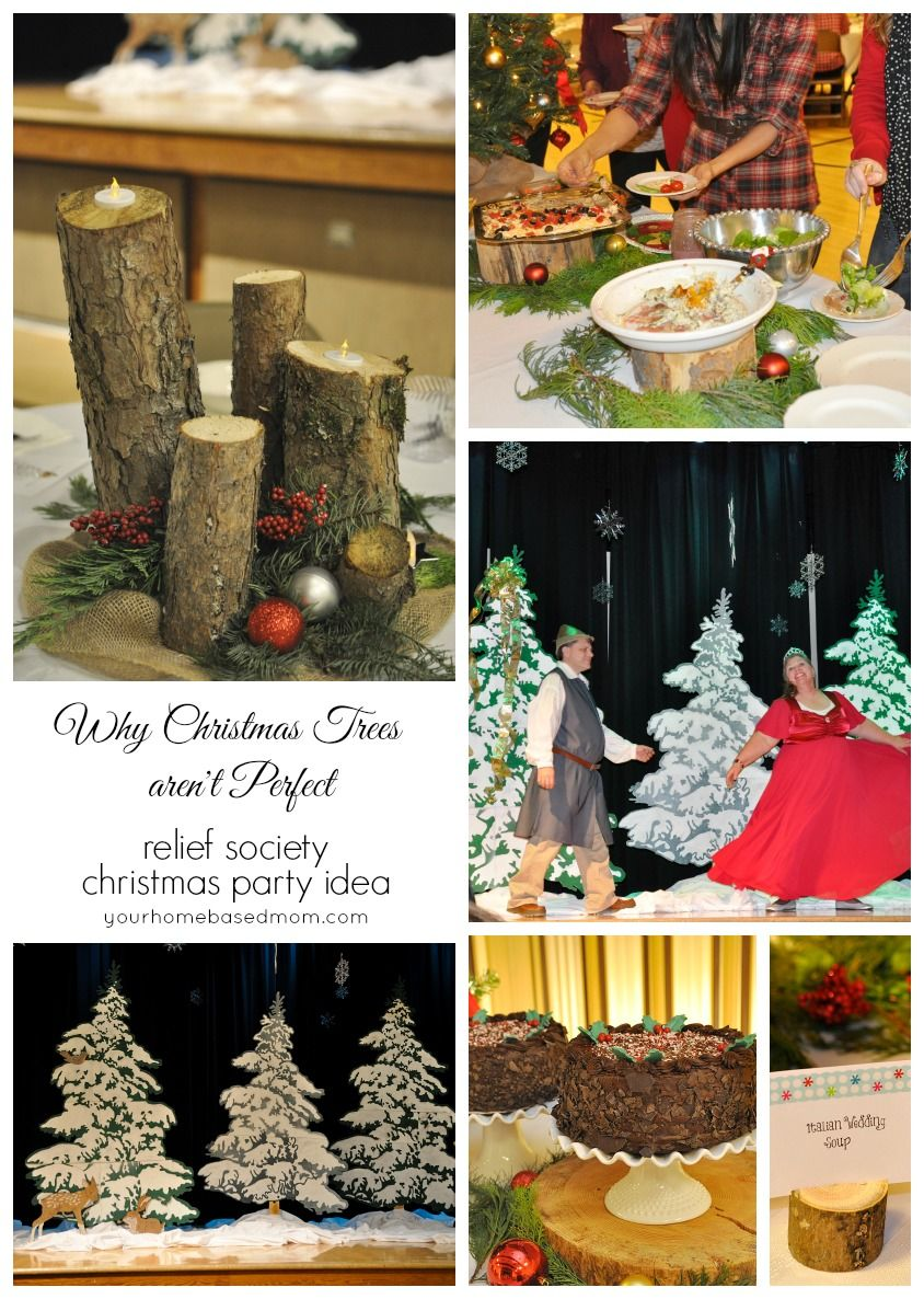 relief society christmas party ideawhy christmas trees arent perfect your homebased mom - Christmas Party Decorations Pinterest