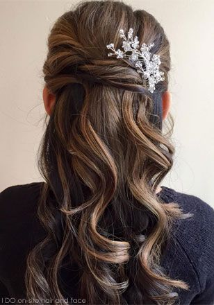 Bride Bridesmaid Hair Incredible Waterfall Braid Prom With Flowers Hairstyles Half Up Downbridesmaid 43