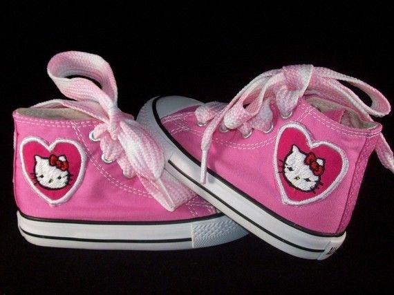 Custom Hello Kitty Chuck Taylors | Hello kitty shoes, Hello