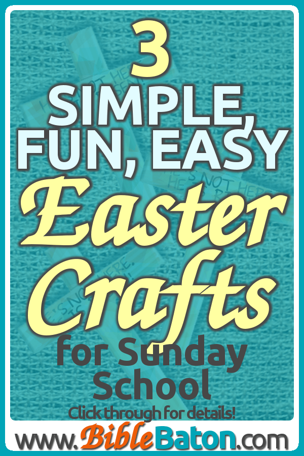 3 Simple Fun Easy Easter Crafts For Sunday School Sunday
