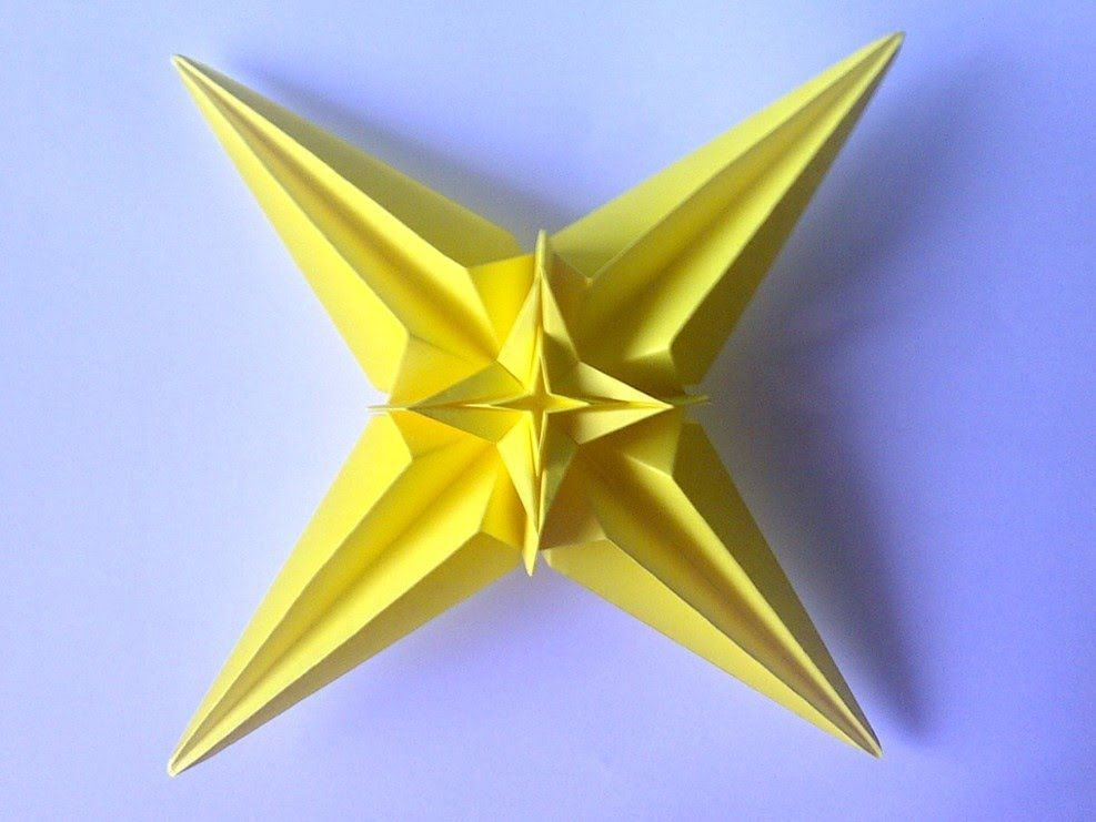 Origami Star Flower Bowl / Box Tutorial - Paper Kawaii | 741x987