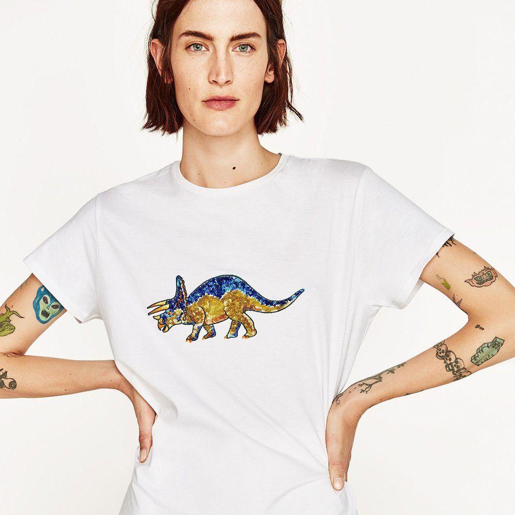 t shirt dinosaure zara femme