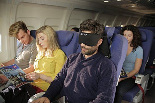 2 in 1 Travel Pillow- Sleep Mask and Memory Foam Pillow t...
