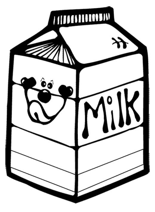 Box A Milk Coloring Page Food Coloring Pages Coloring Pages