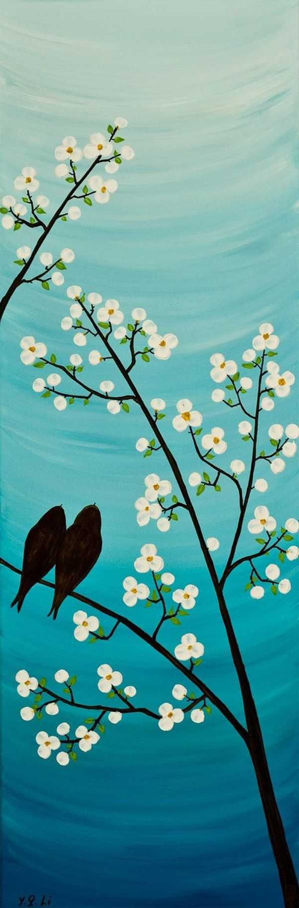 Easy Nature Painting Ideas : nature, painting, ideas, Simple, Landscape, Painting, Ideas, Painting,, Paintings,, Projects